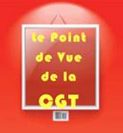 Illustration panneau écrit dessus : le point de vue de la CGT