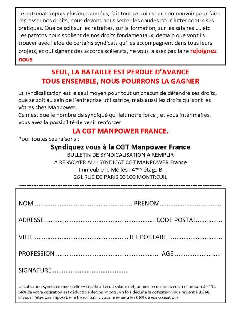 Tract adhésion CGT Manpower